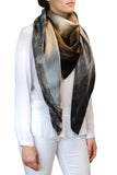 silk scarf: Sky Is The Limit in silver