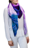 silk scarf: Beyond The End in purple