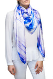 silk scarf: Walking in the Rain in purple