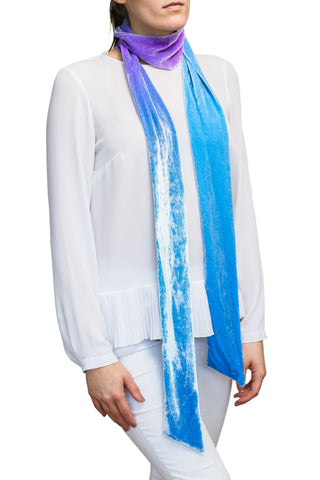 velvet scarf: Wrapped Up in Blue
