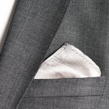 silk pocket square: Sky Is The Limit in silver