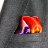 mens pocket square in red