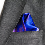 silk pocket square: Purple Rain