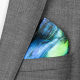 luxury pocket square in green