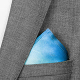 silk pocket square: Iris in green