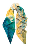silk scarf: Valencia in turquoise