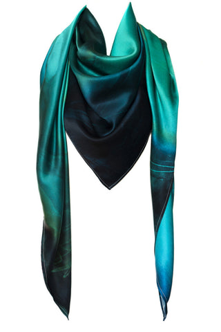 silk scarf: Sky Is The Limit in green