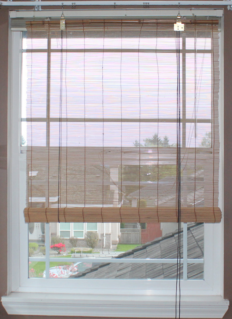 Natural Bamboo Matchstick Roll Up Window Blind