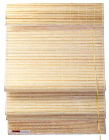 Natural Bamboo Slat Roman Shade with Valance