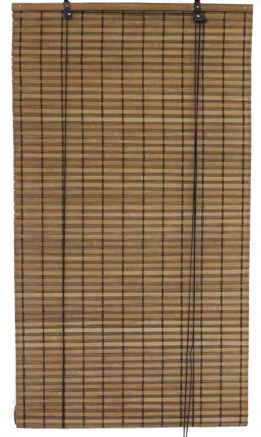 Brown Carbonized Bamboo Slat Roll Up Blind