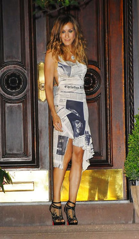 carrie sex and the city. newspaper dress