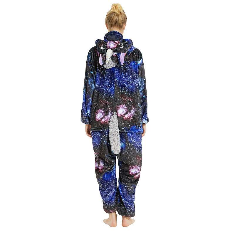 Adult Galaxy Unicorn Onesie Pajamas