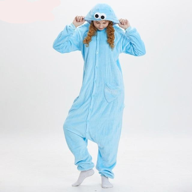 Cookie Monster Elmo Kigurumi Onesie