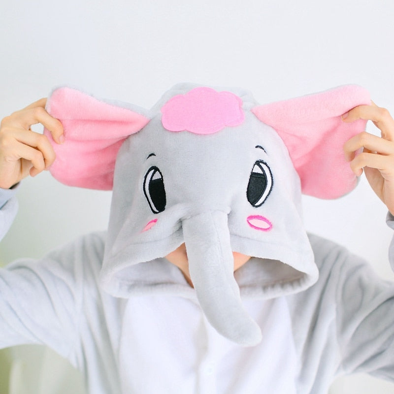 Grey Elephant Adult Kigurumi Onesie