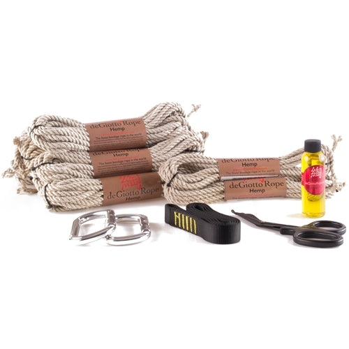 hemp bondage rope starter suspension kit 8x30 2x15