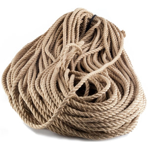 spooled natural jute bondage rope 300 feet raw
