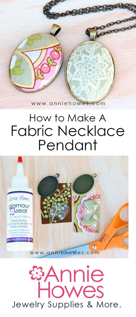 How to make fabric pendant jewelry.
