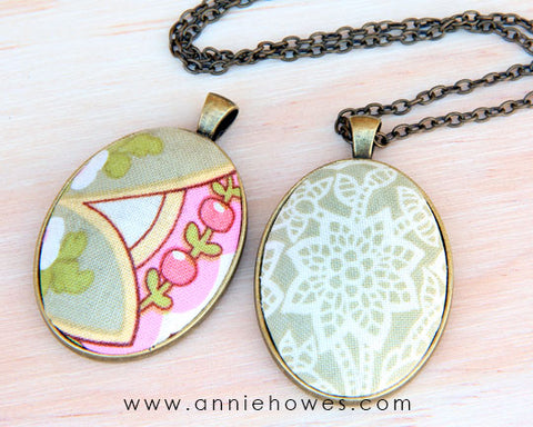 How to make a fabric pendant cloth pendant diy jewelry crafts to how to make fabric pendant jewelry aloadofball