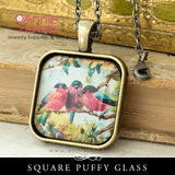Puffy Glass 25mm 1 Inch Square