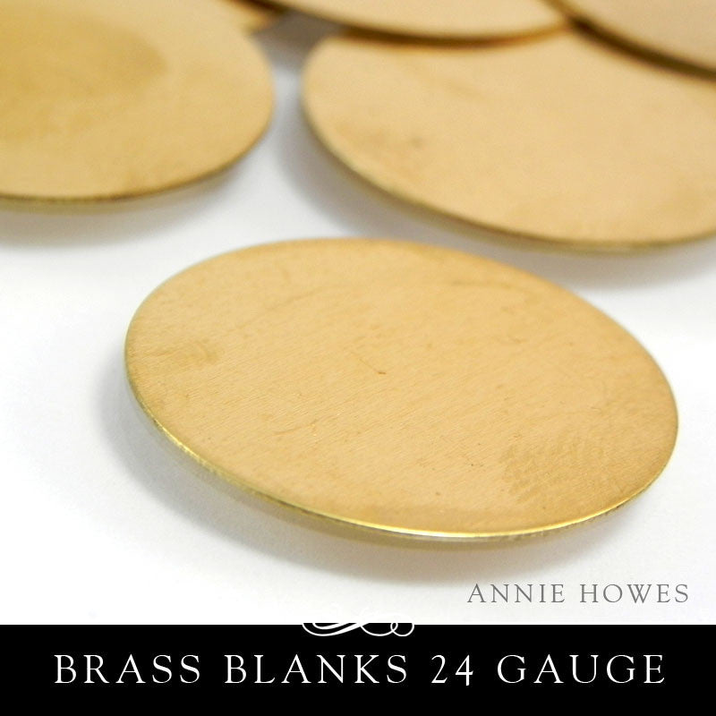 Brass Metal Stamping Blank 24G 25mm 1 Inch Circle
