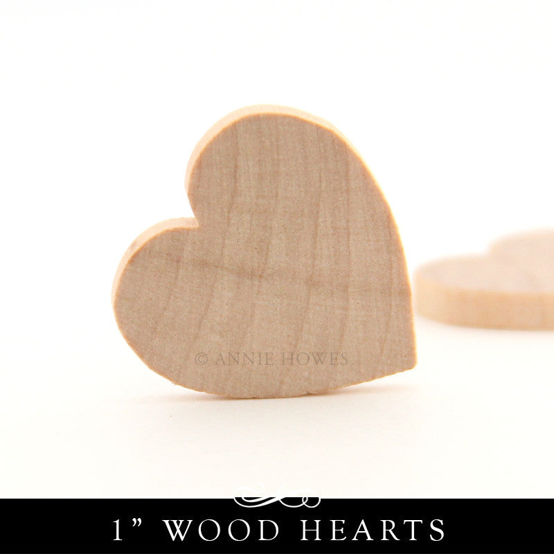Wood Heart Cut Outs - 1 Inch x 1/8 Inch
