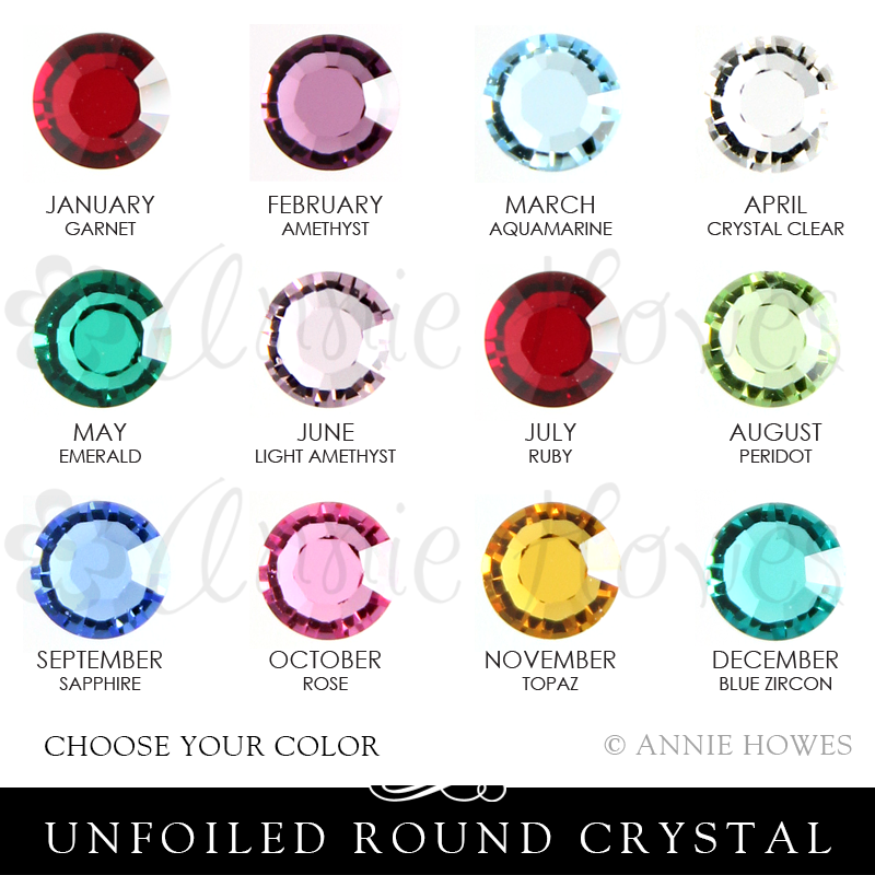 Swarovski Crystal 1128 in Birthstone Colors for your Locket Love