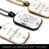 GFX Glamour FX Glass 20x30 Puffy Rectangle Glass