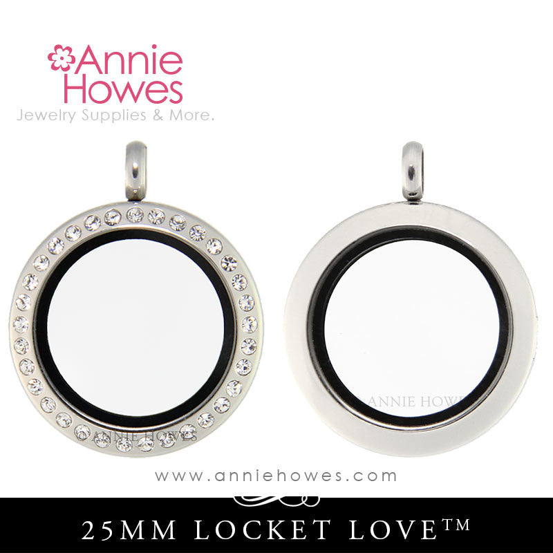 Locket Love 25mm Locket - Plain Frame or CZ, your Choice
