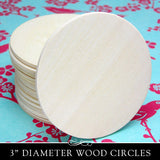 3 Inch Wood Circles - 3 inch x 1/8 inch 50 Pack