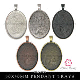 Glass & Pendant Tray Necklace Kit - 30x40 Oval Cabochons