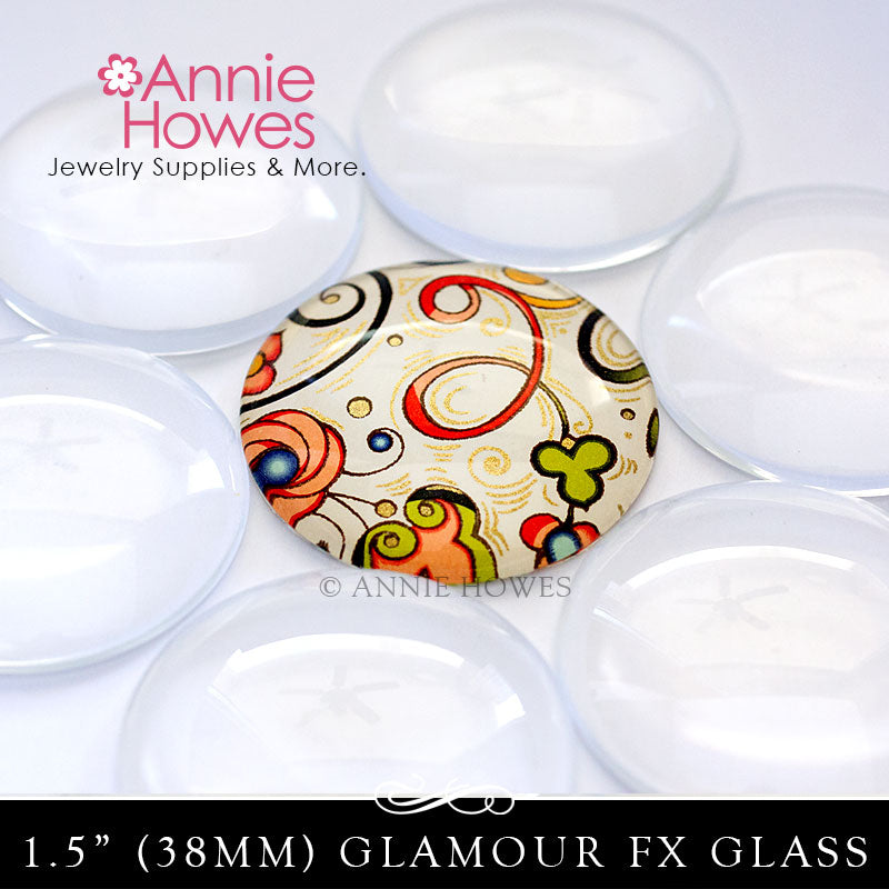 "GFX-Glamour FX Glass 1.5"" 38mm Circles"