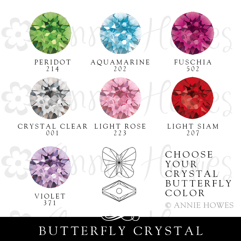 Swarovski Crystal Butterfly Bead for your Locket Love