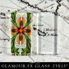 GFX Glamour  FX Glass .75in X 1.5 in- Rectangle Flat