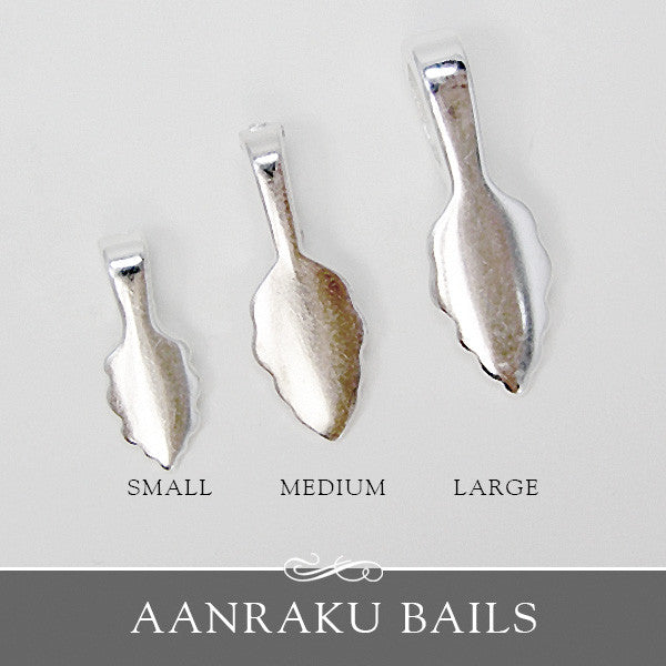 Silver Leaf Bails - 3 Sizes - Aanraku
