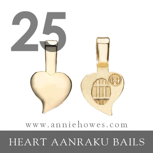 Gold Heart Bails - Small - Aanraku