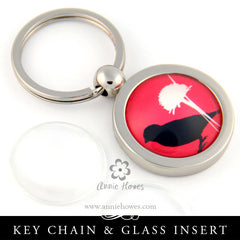 Aanraku Blank Key Holder With Glass - Circle
