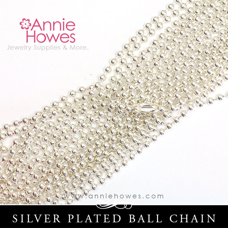 Ball Chains, 3.0mm - Silver Plated