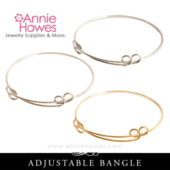 Adjustable Bangle Charm Bracelet in Silver or Gold. Charm Bracelet. Nunn Design