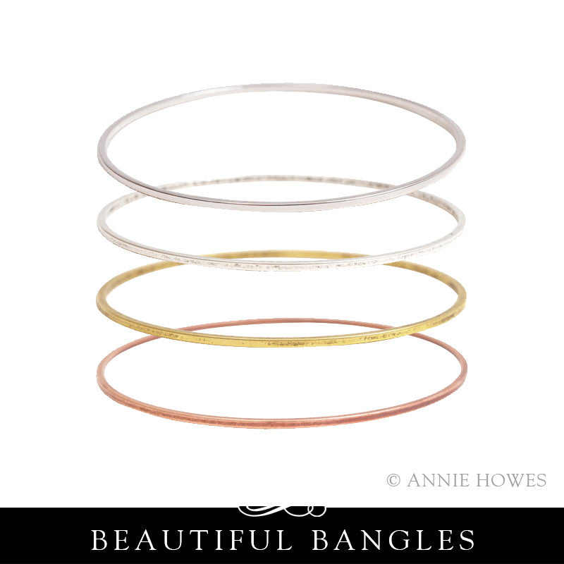 Stacking Bangle Bracelet. Small Flat. Nunn Design.