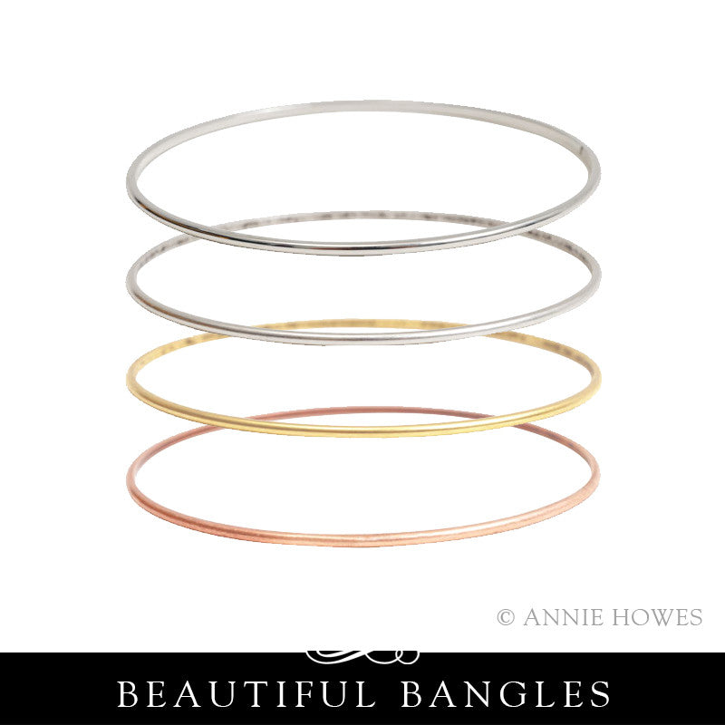 Stacking Bangle Bracelet. Small Domed. Nunn Design.
