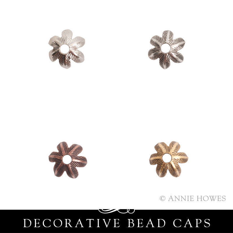 Bead Caps 8mm Daisy - Pack of 10. Nunn Design