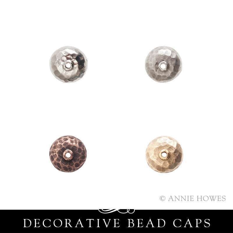 Bead Cap 9mm Hammered - 10 pack. Nunn Design