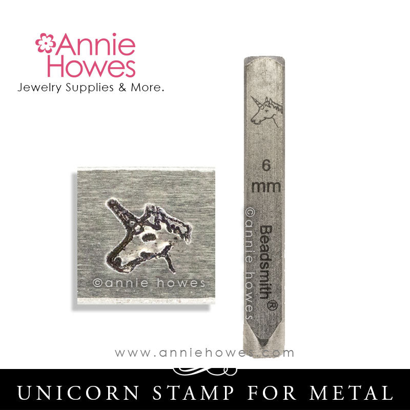 Beadsmith Metal Stamps - Unicorn Design Stamp