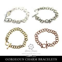 Charm Bracelet with Rope Texture - Loop. Nunn Design