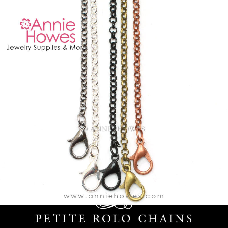 Rolo Chains with Lobster Clasp 24""