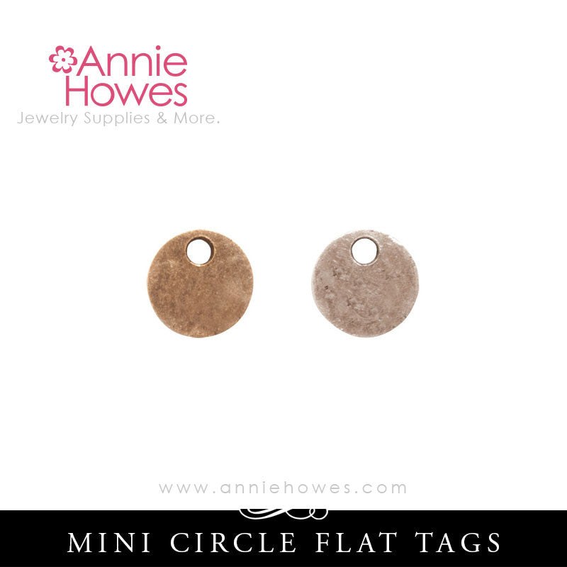 Mini Flat Tag for Metal Stamping Circle Shape - Nunn Design CFTMCS