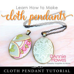 How to Make Cloth Fabric Jewelry Tutorial Instant Download