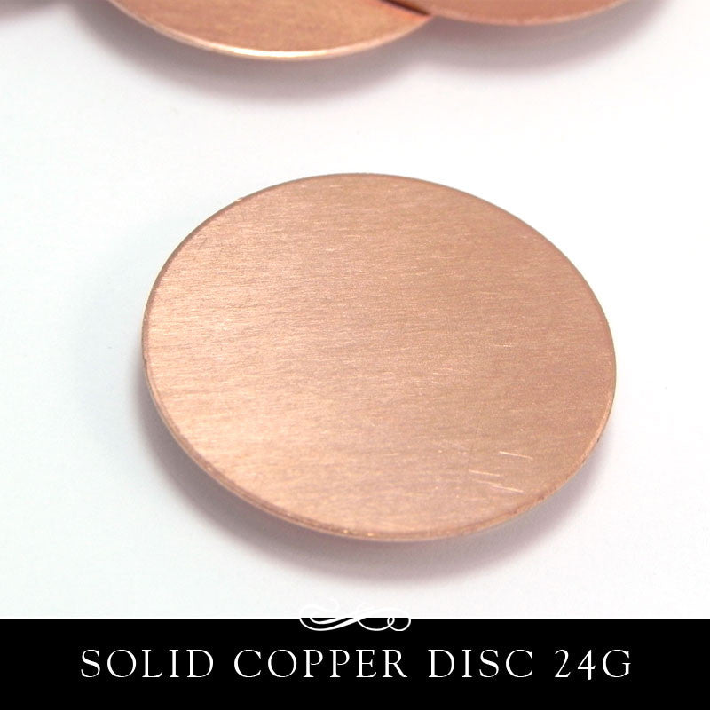 Copper Metal Stamping Blank 24G 25mm 1 Inch Circle