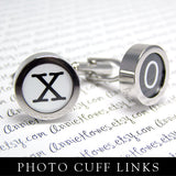 Vintage Typewriter Alphabet Digital Download PDF. Sized for Photo Cuff Links. 15mm Circle