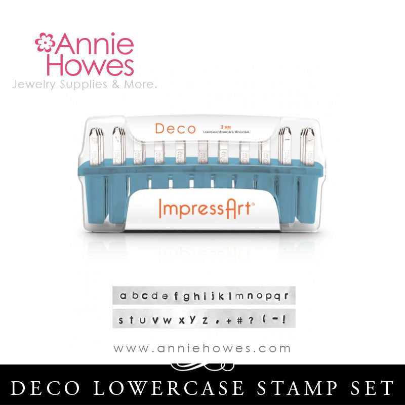 Impressart Metal Stamps - Deco Alphabet Stamp Lowercase Set 1.5mm
